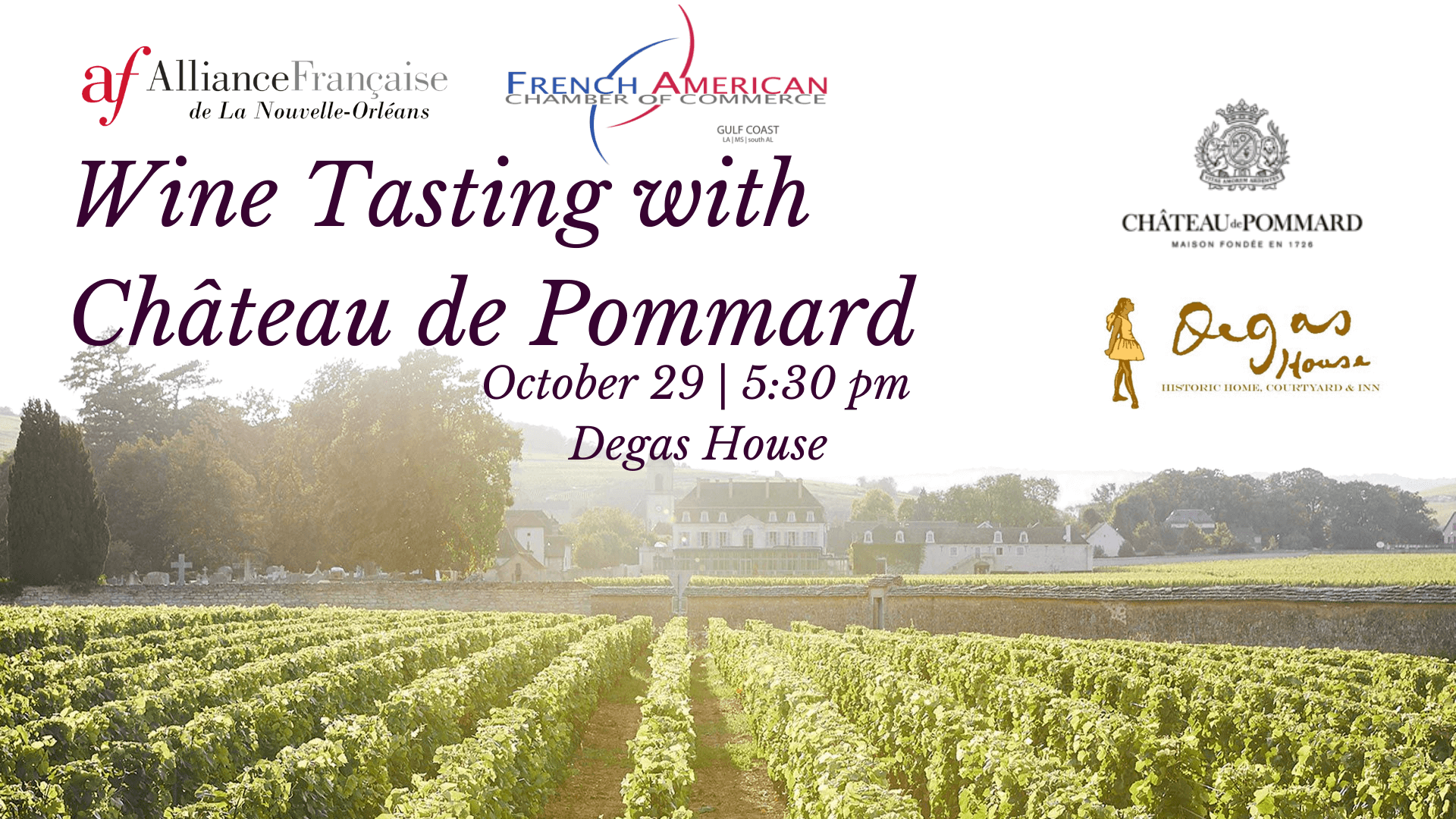 Wine Tasting with Château de Pommard